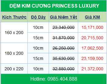 bang-gia-nem-kim-cuong-princess-luxury