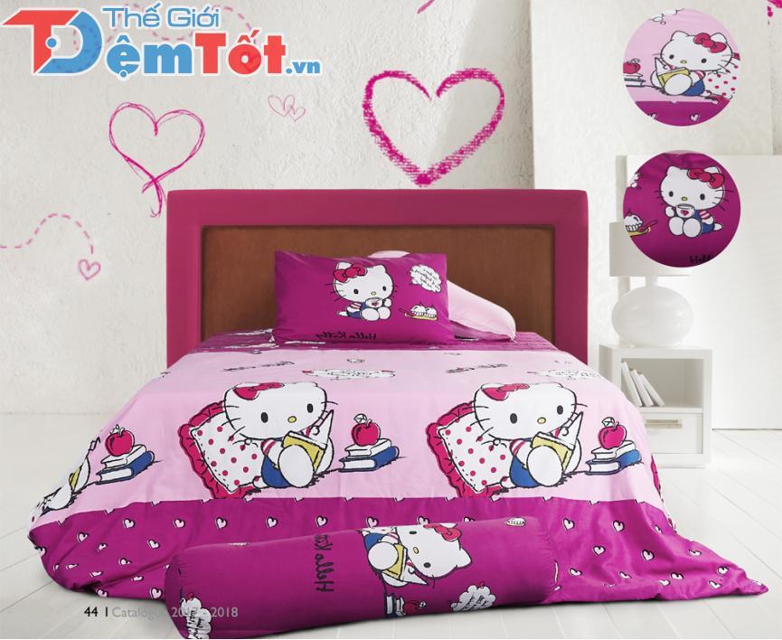 Chăn ga gối trẻ em Hello Kitty