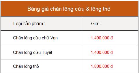 Bảng giá chăn lông cừu chữ Vạn màu đỏ đun nhập khẩu Nhật Bản :